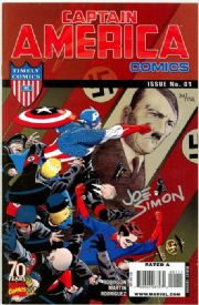 Captain America Comics 70th Anniversary Special Dynamic Forces Signed Joe Simon DF COA Hitler cover Marvel comic book